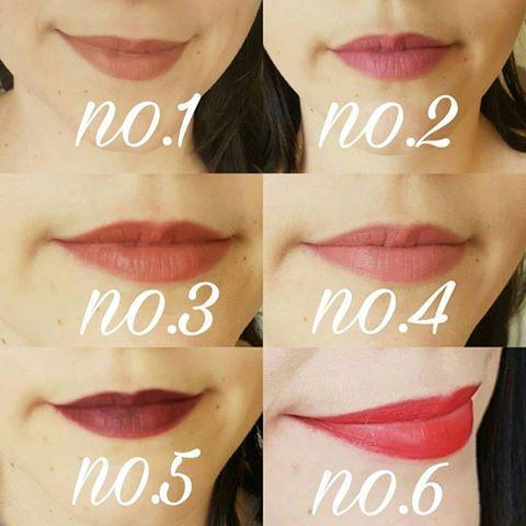 lip swatches Em