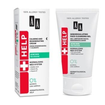 Acne cream and face wash